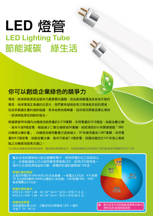 LED燈管DM(正面)