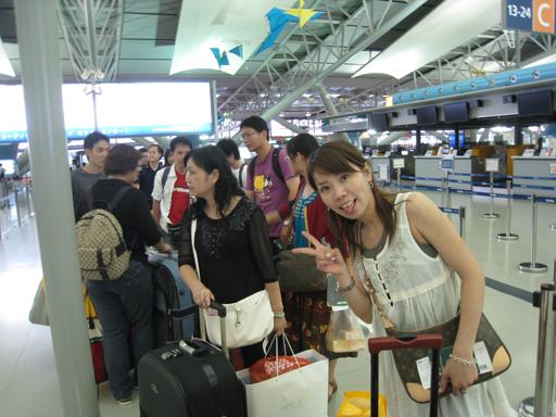 排隊等著掛行李