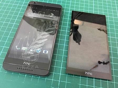 HTC 626面板破裂