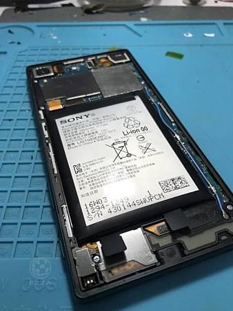 SONY Z5電池膨脹