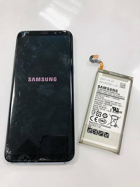 三星S8電池老化