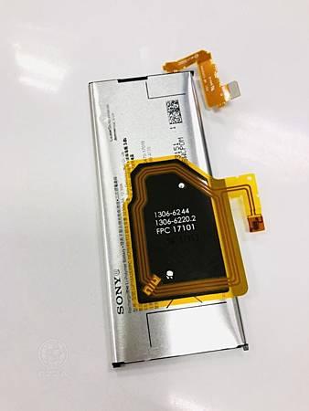 SONY XZP電池膨脹