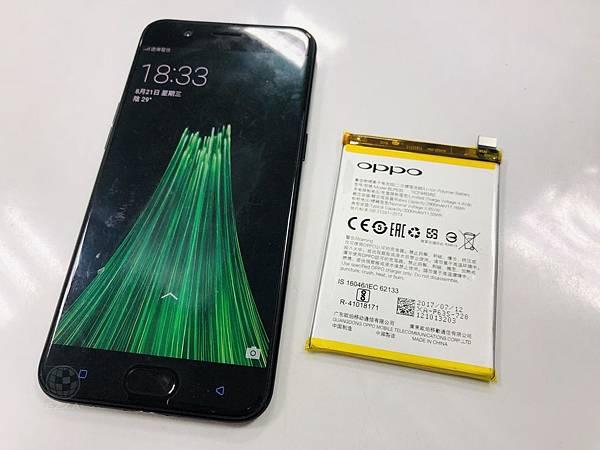 Oppo R11更換電池.jpg