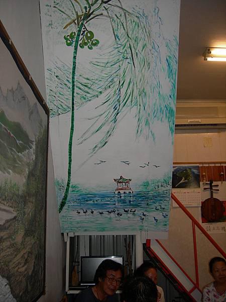 美中粄條店裏的壁畫