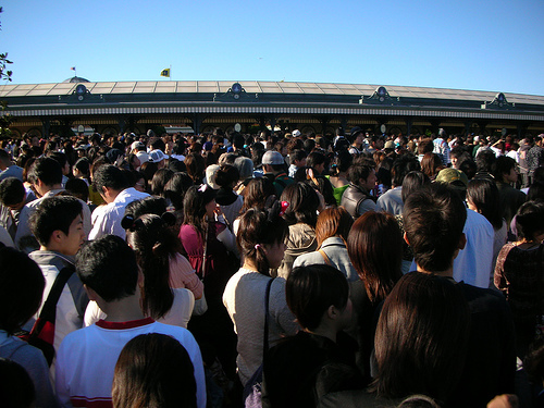 Disney Land 07:50的入園人潮