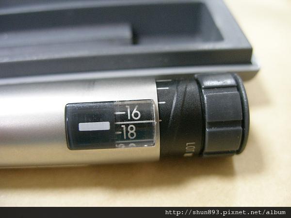 第一型糖尿病筆針刻度