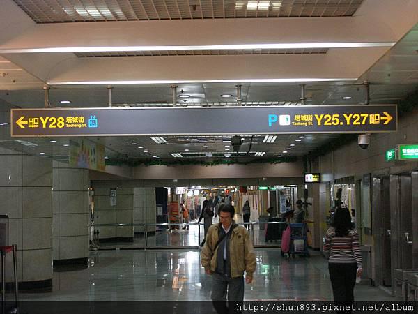 台北火車站地下街Y25