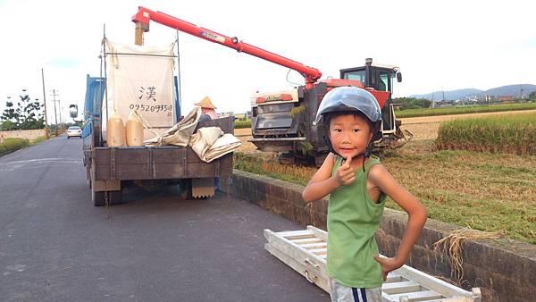 割稻機工作