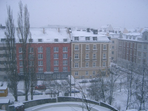 下大雪的早上