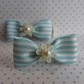 藍白小珠花