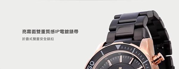 日本原裝機芯BYRON鉑倫NO.9319 ARMOR TYPE三環計時錶