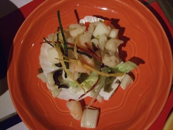前菜:油醋海鮮塔