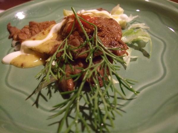 前菜:芥子嫩牛肉