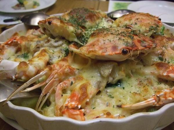 海鮮焗麵。螃蟹肉好甜!