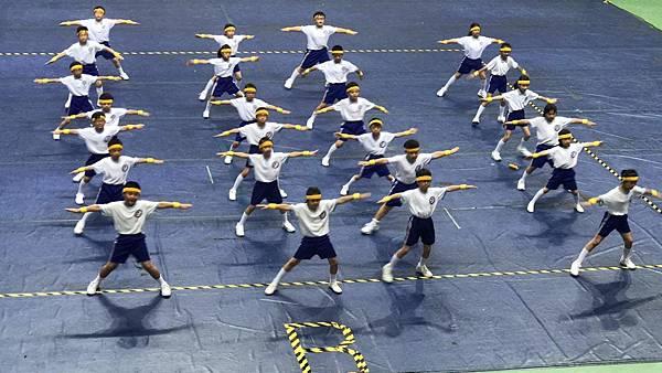 泓泓班上代班學校參加2017年小學三年級健身操比賽2