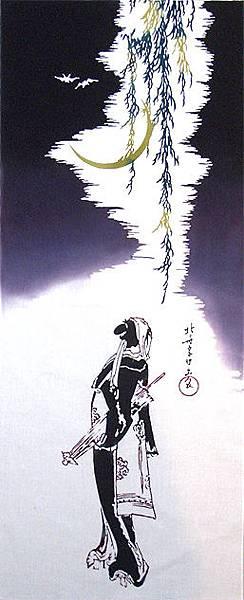 手ぬぐい「葛飾北斎 夜鷹の図」