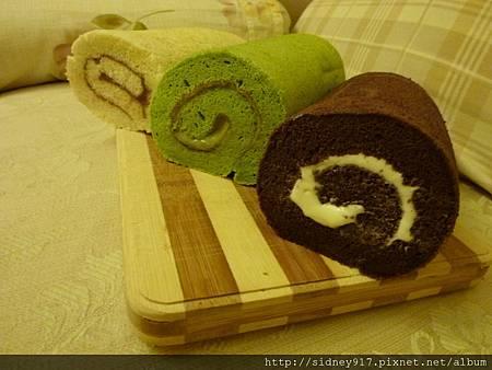 三種口味的乳酪毛巾捲~