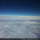 前往北海道的飛機上
