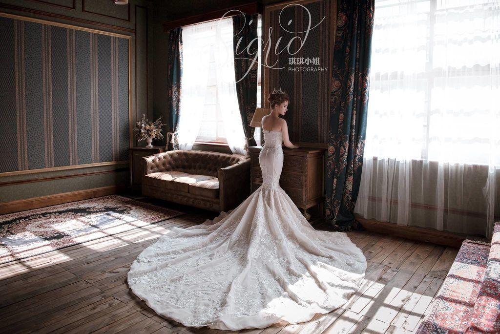 婚攝琪琪小姐 復古奢華雜誌風格妝容 婚紗攝影