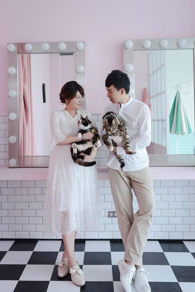 婚攝琪琪小姐 貓 婚紗 貓咪婚紗 貓奴 寫真 情侶