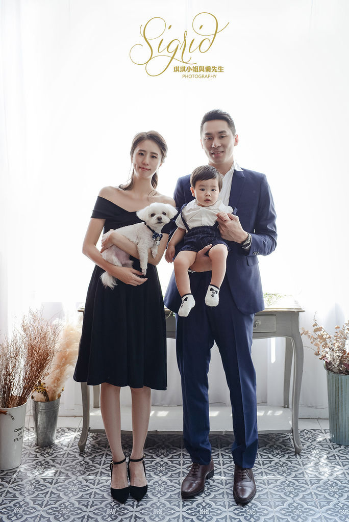 琪琪小姐與喬先生 台北全家福 台北親子寫真 台北週年婚紗