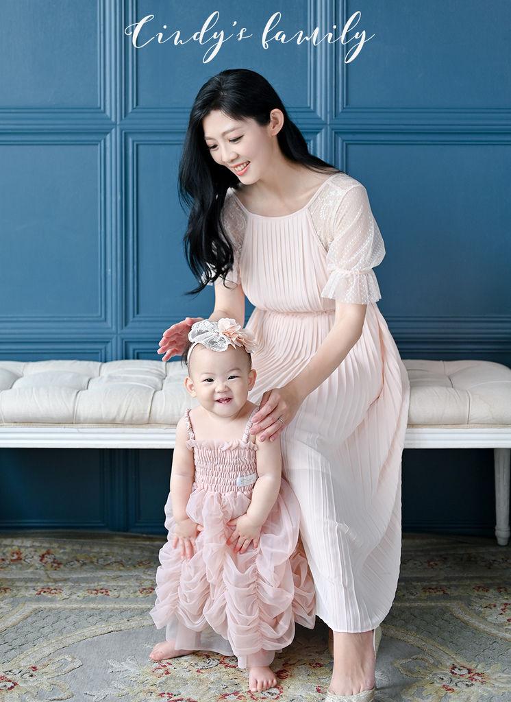 台北親子寫真 寶寶週歲寫真 琪琪小姐與喬先生 氣質主播戴心怡