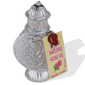 100% Natural Rose Oil (Rosa Damascema Mill) 1.0 ml in silver bottle