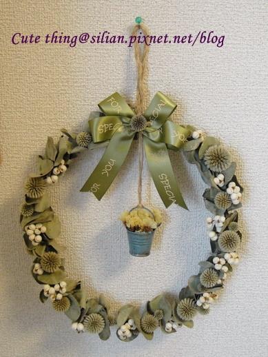 20111026 銀杏的花圈