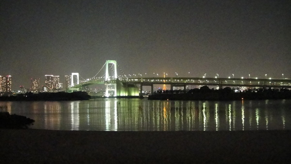 台場海灘的夜景~彩虹橋