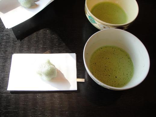 茶亭的抹茶和點心~好吃!