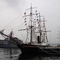 橫濱開港時來的黑船模擬重現~