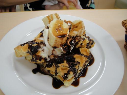 可口的巧克力香蕉鬆餅,小姐的娘帶我去吃一次我就愛上了~