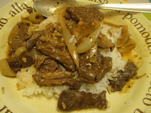 黑胡椒牛柳燴飯