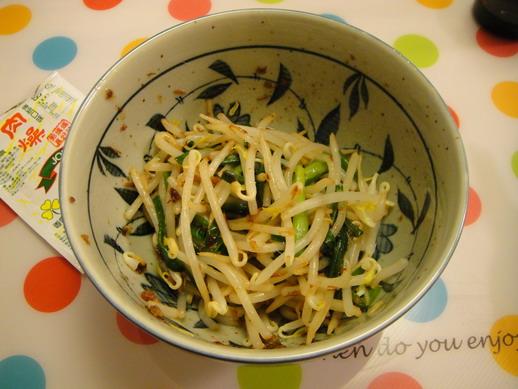 燙豆芽菜韭菜加肉燥.jpg