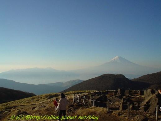 冬天的富士山景