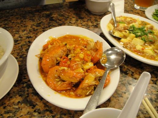 辣椒蝦,超超超辣!!超超超好吃的!! 蝦都很肥,頭都還有黃可以吃喔~ 美味~~