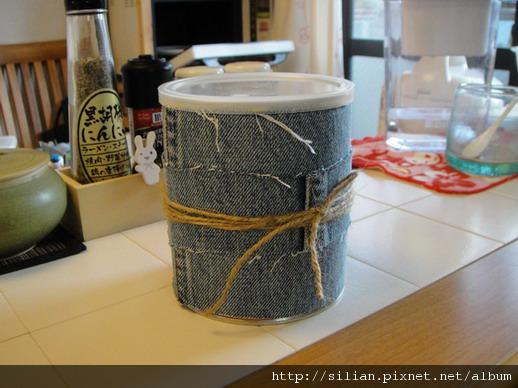 洗衣粉罐牛仔風DIY
