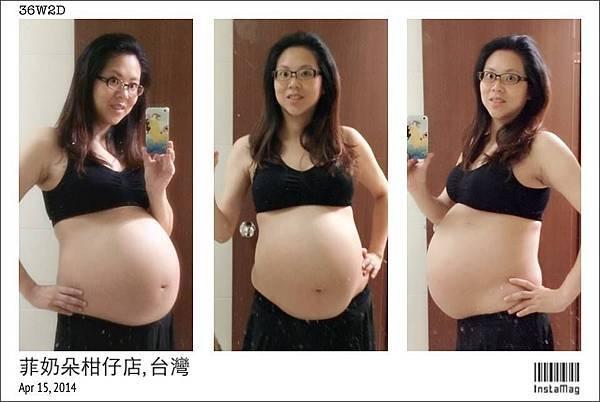 2014-04-15 媽咪自拍大肚照