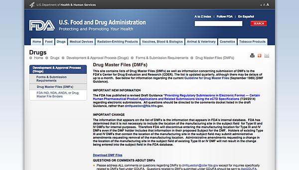 Drug Master Files  DMFs