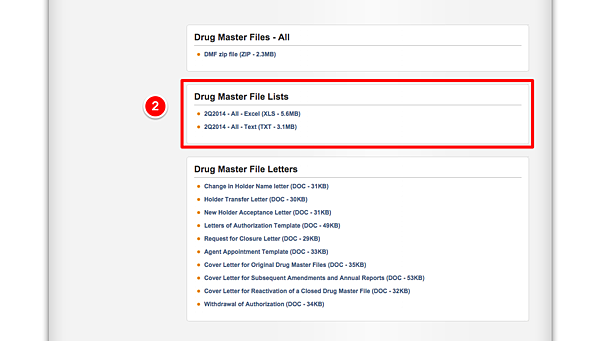 Drug Master Files (DMFs)3