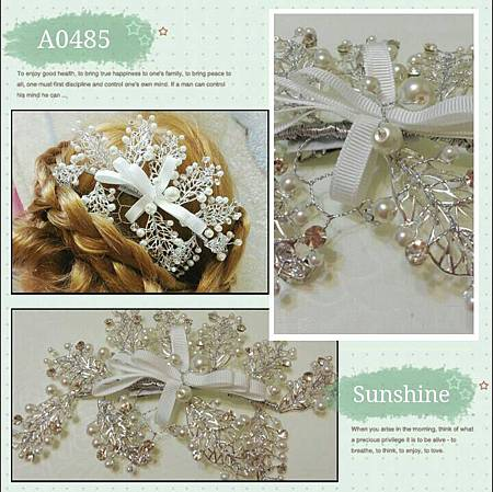 韓式頭花相悅手工珍珠短發結婚發飾額飾婚紗配飾發夾