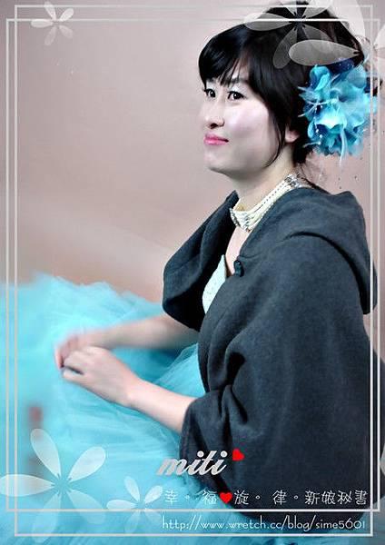 劉小姐-藍色禮服造型