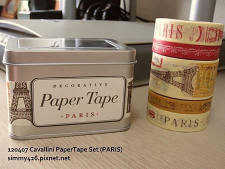 120407 Cavallini PaperTape Set (PARIS)
