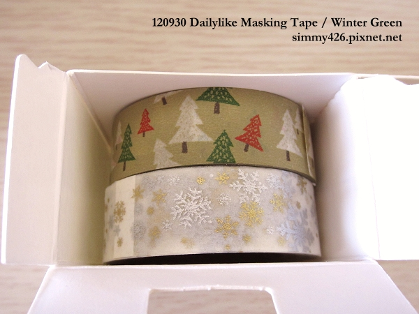120930 Dailylike Masking Tape‧Winter Green