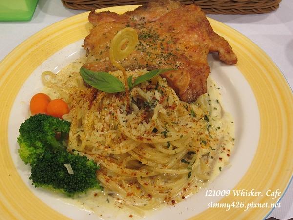 奶油菌菇義大利麵佐雞腿肉(1)