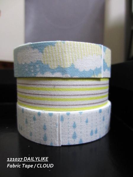 121027 DAILYLIKE Fabric Tape - CLOUD