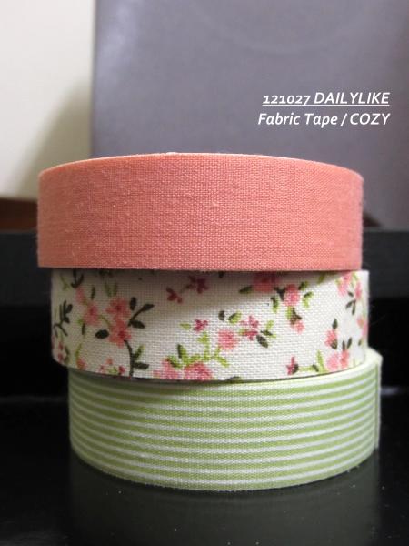 121027 DAILYLIKE Fabric Tape - COZY