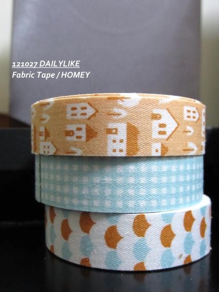 121027 DAILYLIKE Fabric Tape - HOMEY