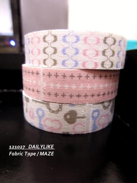 121027 DAILYLIKE Fabric Tape - MAZE