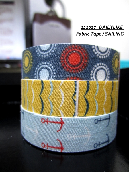 121027 DAILYLIKE Fabric Tape - SAILING